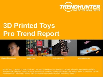 3D Printed Toys Trend Report and 3D Printed Toys Market Research