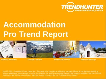 Accommodation Trend Report and Accommodation Market Research