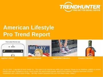 American Lifestyle Trend Report and American Lifestyle Market Research
