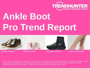 Ankle Boot Trend Report and Ankle Boot Market Research