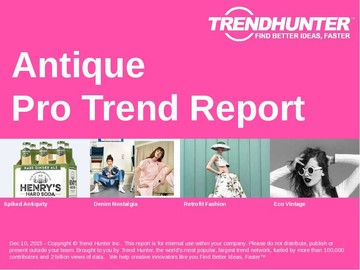 Antique Trend Report and Antique Market Research