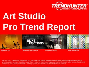 Art Studio Trend Report and Art Studio Market Research