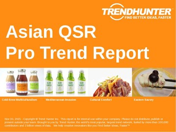 Asian QSR Trend Report and Asian QSR Market Research