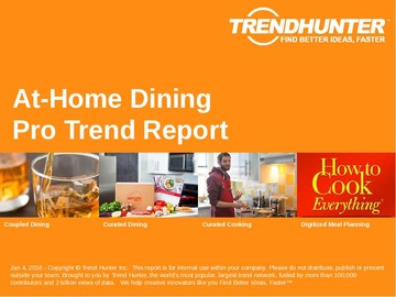 At-Home Dining Trend Report and At-Home Dining Market Research