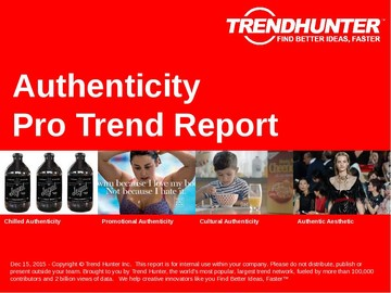 Authenticity Trend Report and Authenticity Market Research