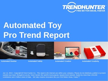 Automated Toy Trend Report and Automated Toy Market Research