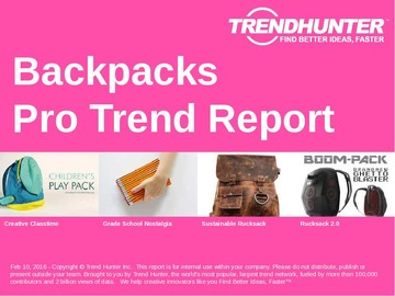 Backpacks Trend Report and Backpacks Market Research