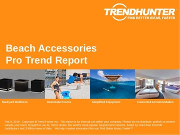 Beach Accessories Trend Report and Beach Accessories Market Research