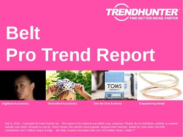 Belt Trend Report and Belt Market Research