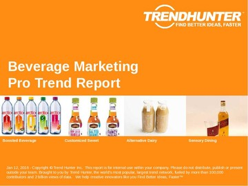 Beverage Marketing Trend Report and Beverage Marketing Market Research