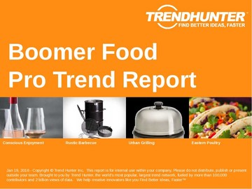 Boomer Food Trend Report and Boomer Food Market Research
