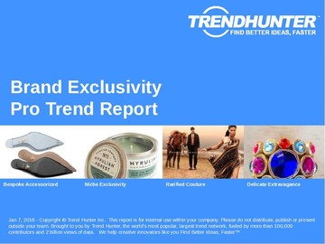 Brand Exclusivity Trend Report and Brand Exclusivity Market Research