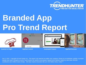 Branded App Trend Report and Branded App Market Research