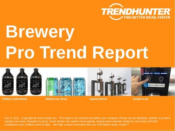 Brewery Trend Report and Brewery Market Research