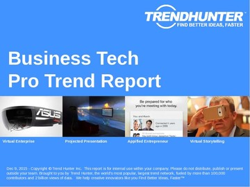 Business Tech Trend Report and Business Tech Market Research