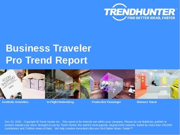 Business Traveler Trend Report and Business Traveler Market Research