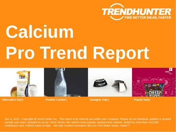 Calcium Trend Report and Calcium Market Research