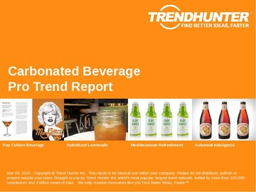 Carbonated Beverage Trend Report and Carbonated Beverage Market Research