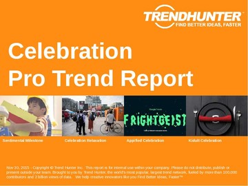 Celebration Trend Report and Celebration Market Research