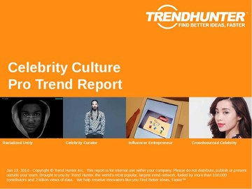 Celebrity Culture Trend Report and Celebrity Culture Market Research
