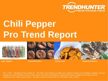Chili Pepper Trend Report and Chili Pepper Market Research