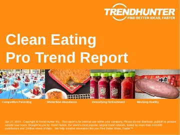 Clean Eating Trend Report and Clean Eating Market Research