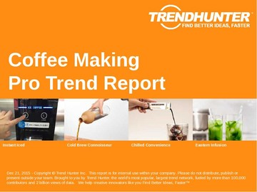 Coffee Making Trend Report and Coffee Making Market Research