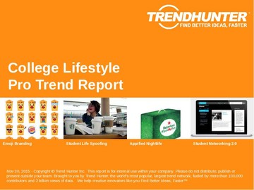 College Lifestyle Trend Report and College Lifestyle Market Research