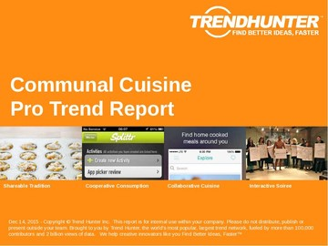Communal Cuisine Trend Report and Communal Cuisine Market Research