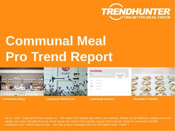 Communal Meal Trend Report and Communal Meal Market Research