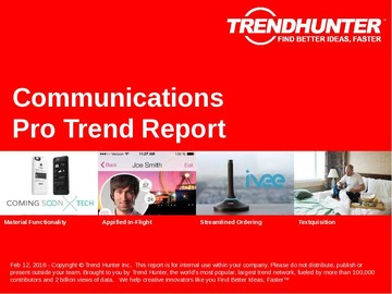 Communications Trend Report and Communications Market Research