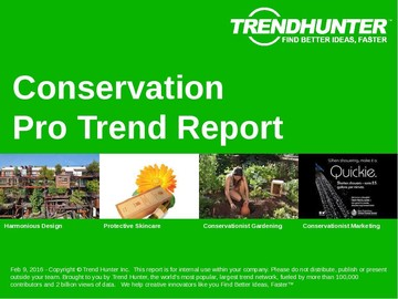 Conservation Trend Report and Conservation Market Research