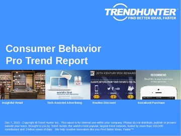 Consumer Behavior Trend Report and Consumer Behavior Market Research