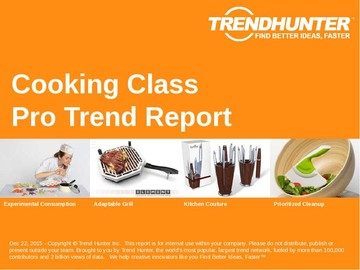 Cooking Class Trend Report and Cooking Class Market Research