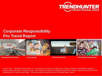 Corporate Responsibility Trend Report and Corporate Responsibility Market Research