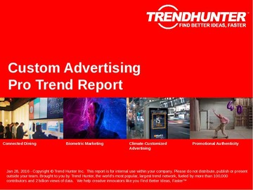 Custom Advertising Trend Report and Custom Advertising Market Research