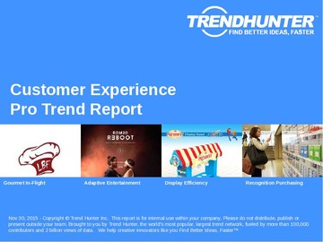 Customer Experience Trend Report and Customer Experience Market Research