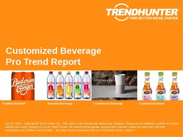 Customized Beverage Trend Report and Customized Beverage Market Research