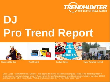DJ Trend Report and DJ Market Research