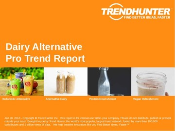 Dairy Alternative Trend Report and Dairy Alternative Market Research