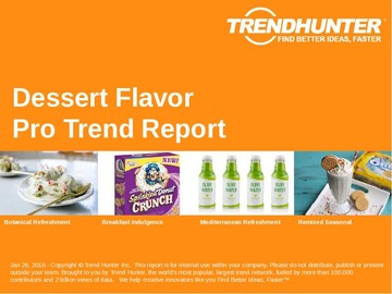 Dessert Flavor Trend Report and Dessert Flavor Market Research