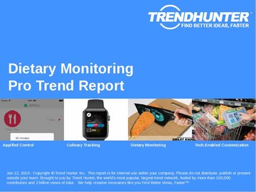 Dietary Monitoring Trend Report and Dietary Monitoring Market Research