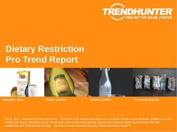 Dietary Restriction Trend Report and Dietary Restriction Market Research