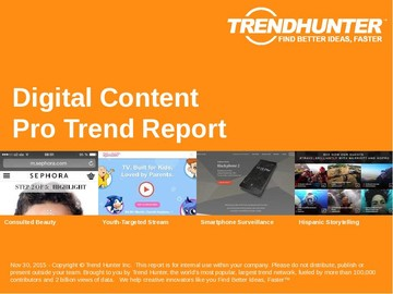 Digital Content Trend Report and Digital Content Market Research