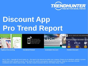 Discount App Trend Report and Discount App Market Research