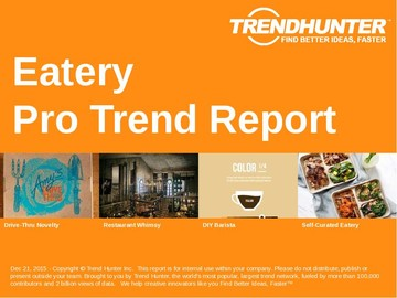 Eatery Trend Report and Eatery Market Research