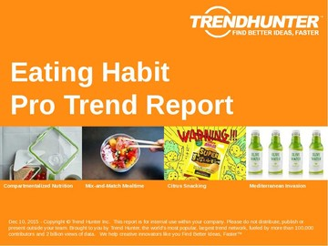 Eating Habit Trend Report and Eating Habit Market Research
