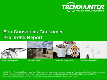 Eco-Conscious Consumer Trend Report and Eco-Conscious Consumer Market Research