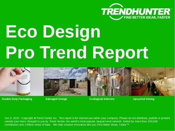 Eco Design Trend Report and Eco Design Market Research