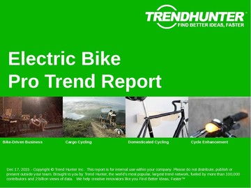 Electric Bike Trend Report and Electric Bike Market Research